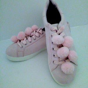 Sam Elderman Circus Pom Pink Suede Shoes 8.5 NWOB